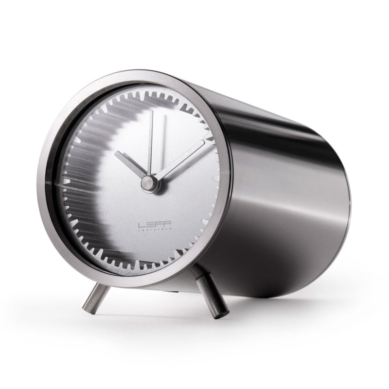 Tube Clock Steel Front