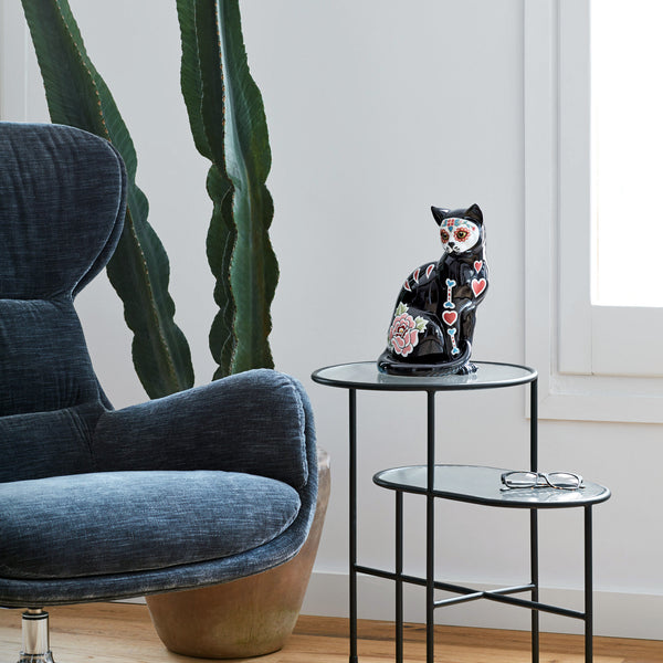 Lladro 'Catrina' Cat Figurine Roomset