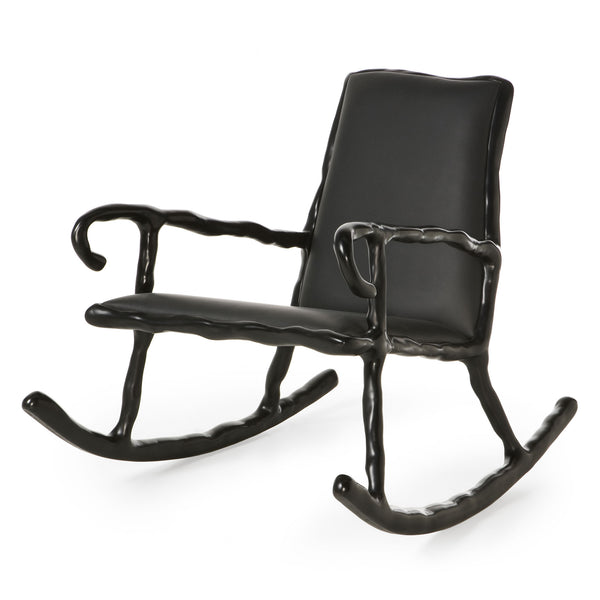 Maarten Baas Clay Low Rocking Chair Black