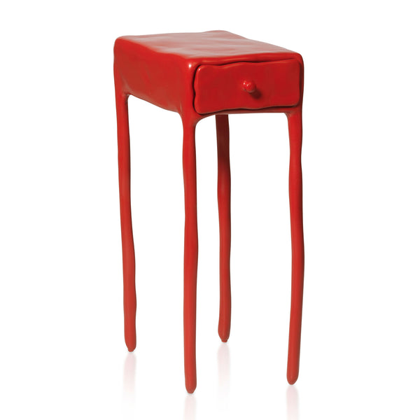 Maarten Baas Clay Table With Drawer Red Side