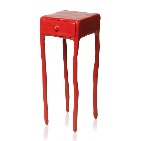 Maarten Baas Clay Table With Drawer Red