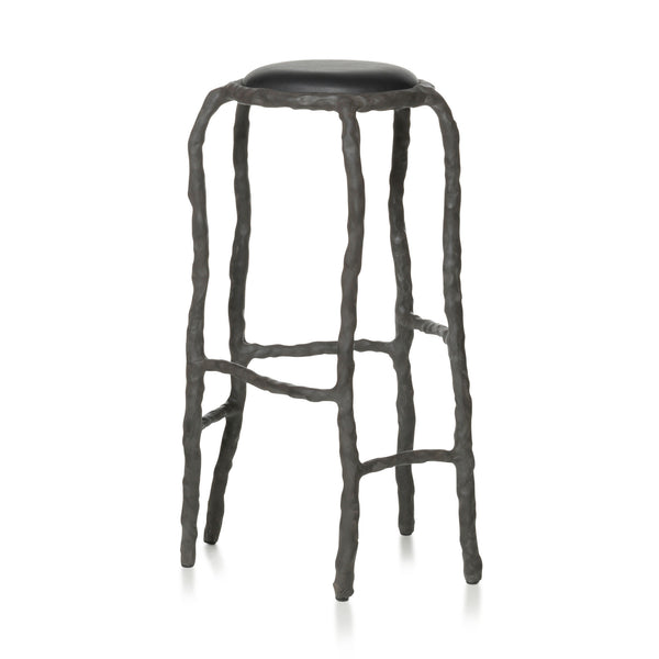 Maarten Baas Plain Clay Bar Stool Black