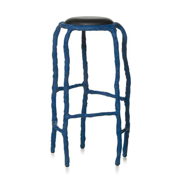Maarten Baas Plain Clay Bar Stool Blue