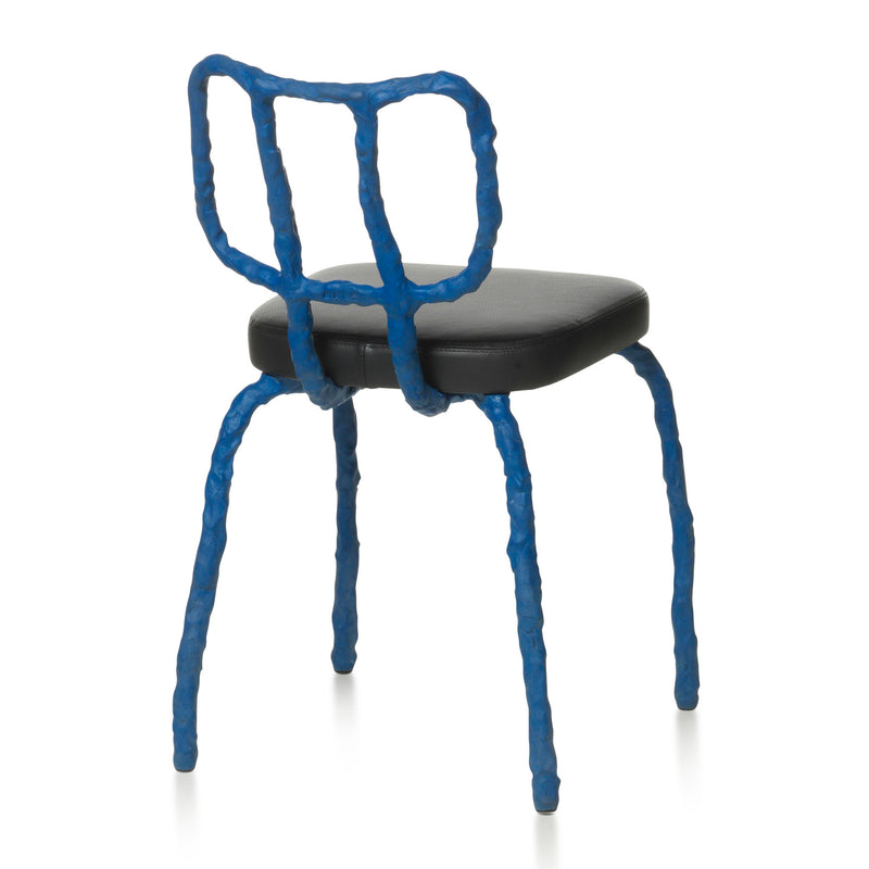 Maarten Baas Plain Clay Dining Chair Blue Back