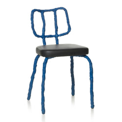 Maarten Baas Plain Clay Dining Chair Blue Front