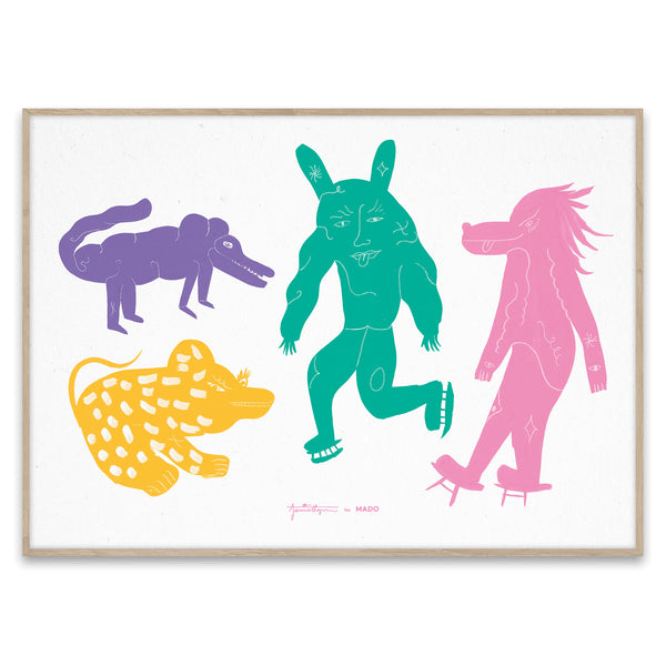 Four Creatures Print by Jaime Hayon - Multi