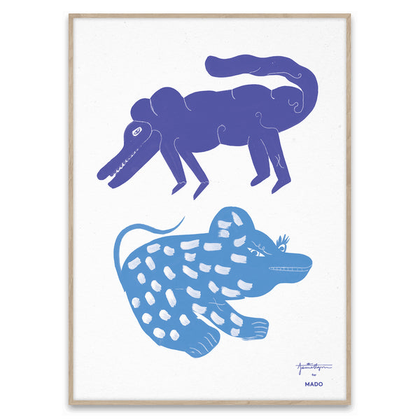 Two Creatures Print by Jaime Hayon - Blue
