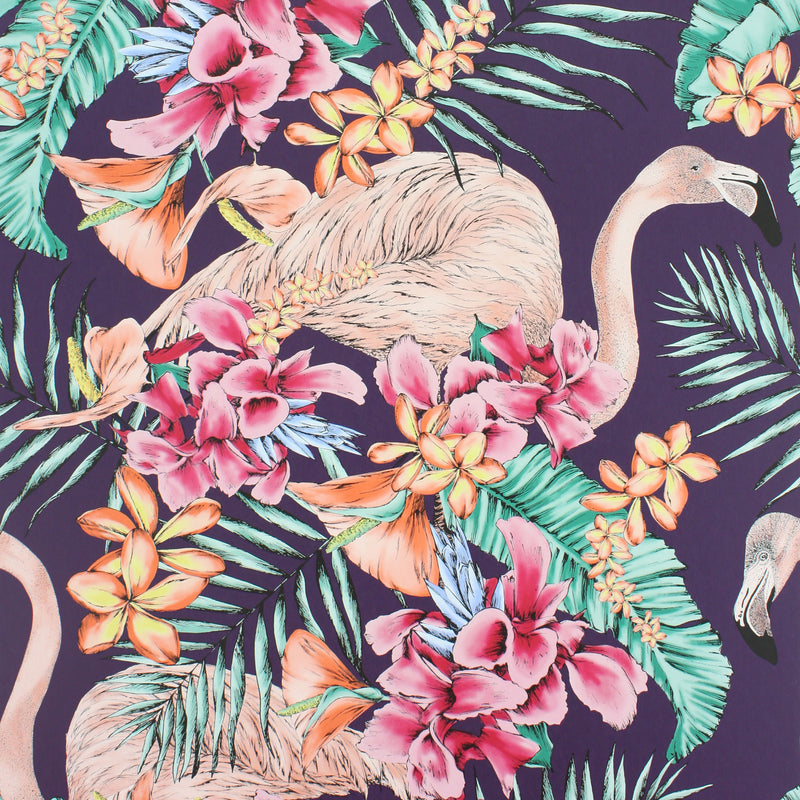 Flamingo Club Wallpaper W6800-06