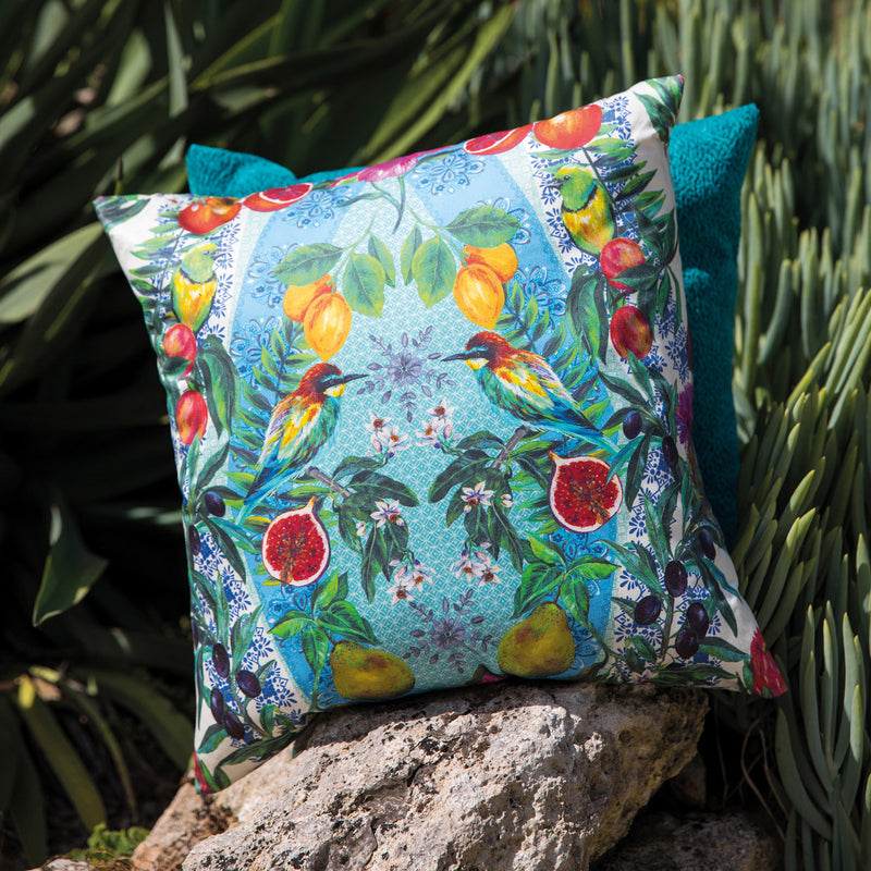 Matthew Williamson 'Talavera' Fabric F7242-01 Cushion
