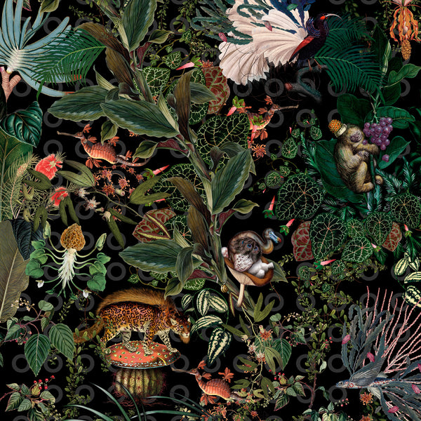 Moooi Carpets Extinct Animals / Menagerie Round Rug Ø250cm Detail