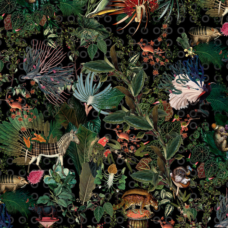 Moooi Carpets Extinct Animals / Menagerie Round Rug Ø350cm Detail