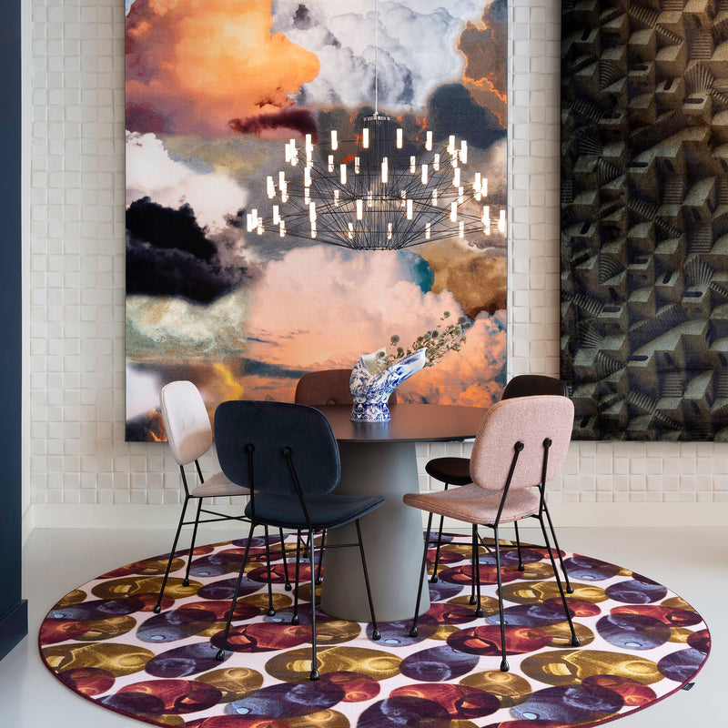 Moooi Carpets Reflection Round Rug - Autumn by Luca Nichetto