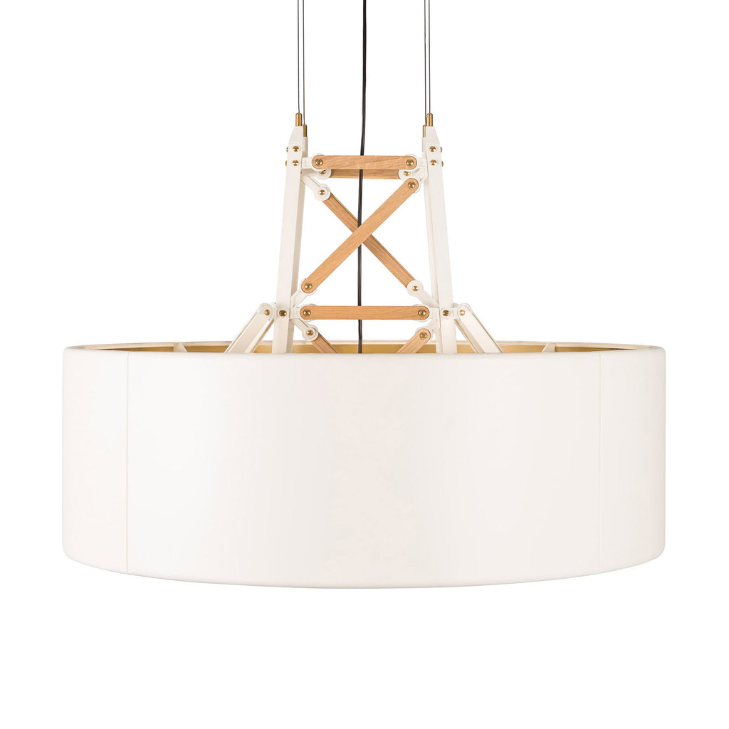 Moooi Construction Light Suspended - Large White/Wood