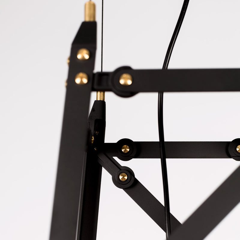 Moooi Construction Lamp Suspended - Medium Matte Black Detail