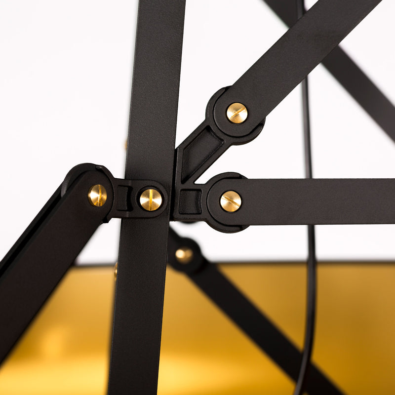 Moooi Construction Lamp Suspended - Medium Matte Black Screw Detail