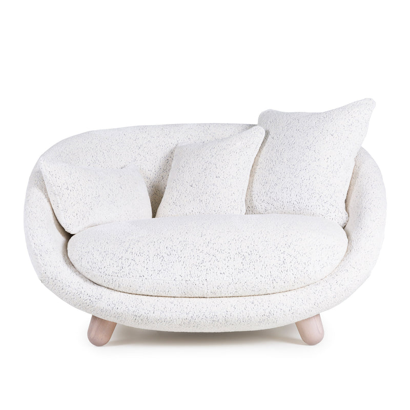 Moooi Love Sofa by Marcel Wanders Dodo Pavone Upholstery Front View