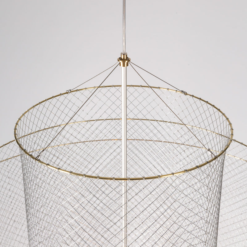 Moooi Meshmatics Chandelier by Rick Tegelaar Wire Detail