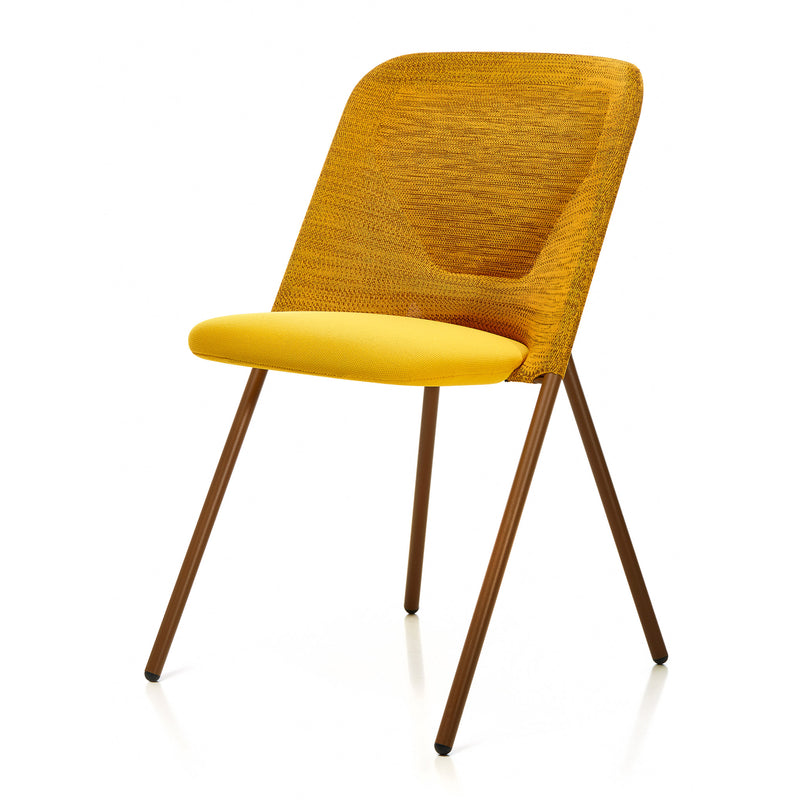 Moooi Shift Dining Chair Warm Ochre Side