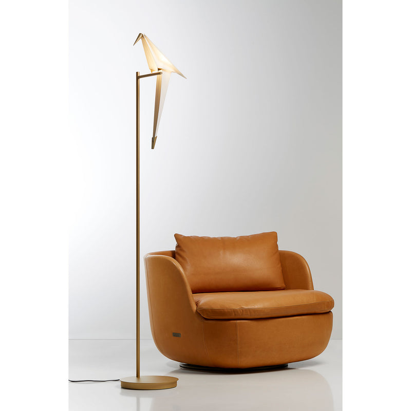 Moooi Perch Light Floor Lamp by Umut Yamac Roomset Light On
