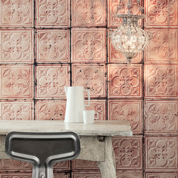 NLXL Brooklyn Tins Wallpaper by Merci - TIN-06 Roomset