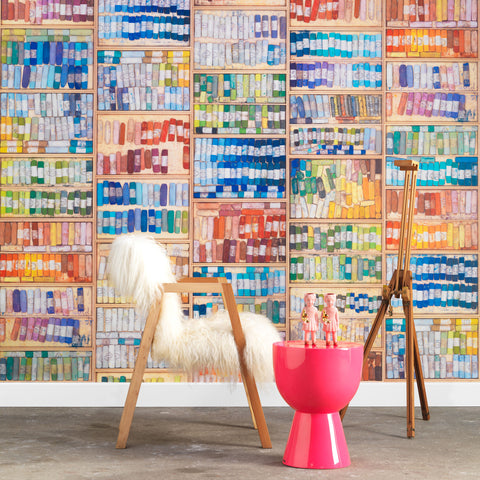 NLXL LAB Coloured Chalk Wallpaper by Mr & Mrs Vintage