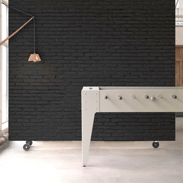 Black Brick Wallpaper by Piet Hein Eek Roomset