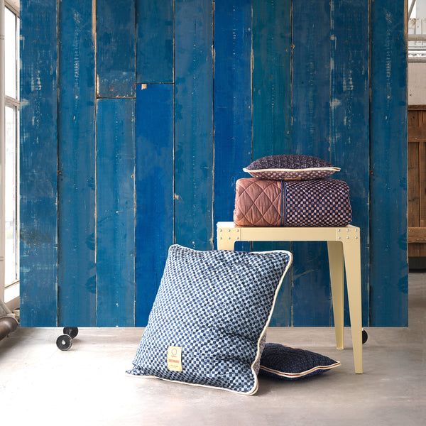 Blue Scrapwood Wallpaper by PIet Hein Eek Roomset