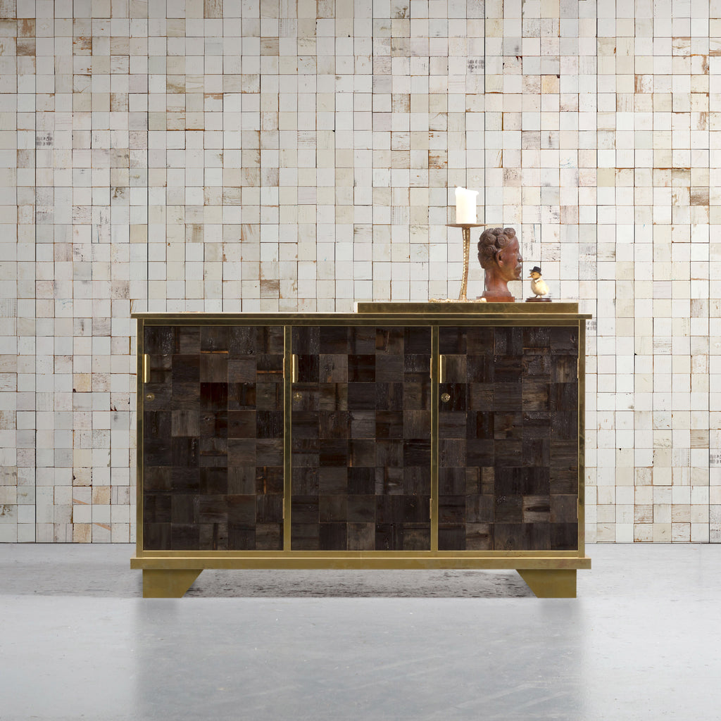 NLXL 'Mosaic Squares White' Wallpaper by Piet Hein Eek