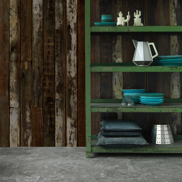 PHE-13 Scrapwood Wallpaper Roomset