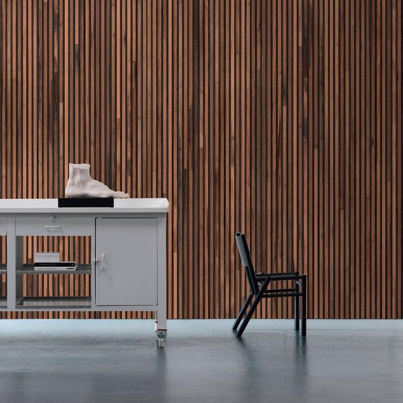 NLXL Timber Strips Wallpaper by Piet Hein Eek - TIM-01 Roomset