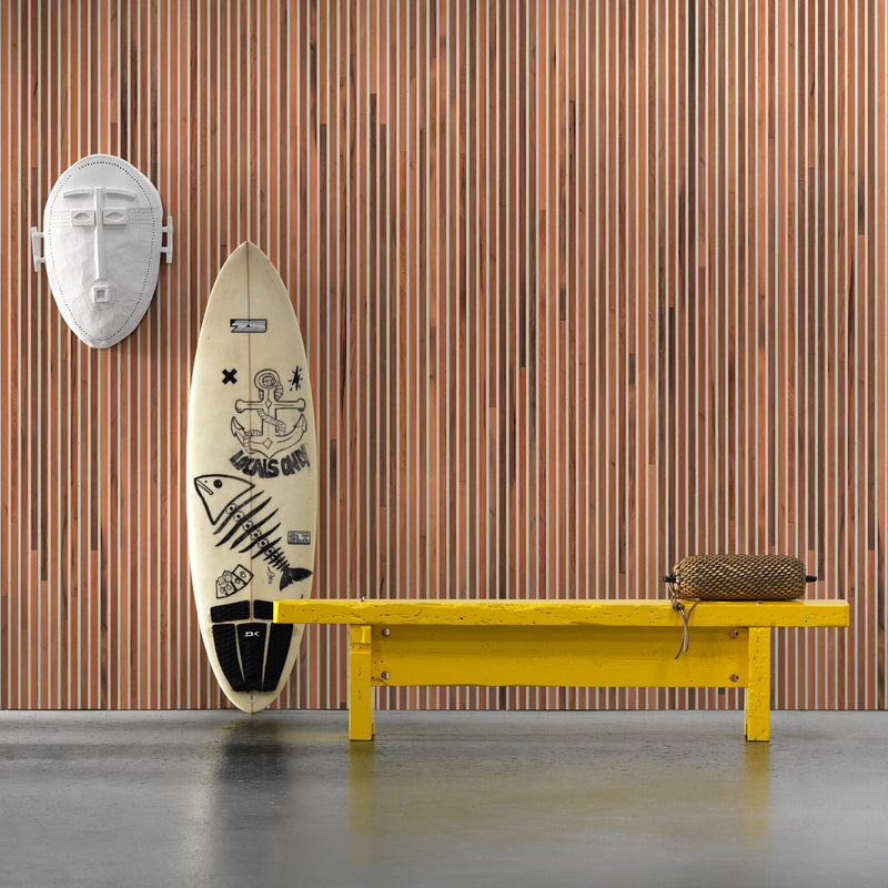 NLXL Timber Strips Wallpaper by Piet Hein Eek - TIM-02 Roomset