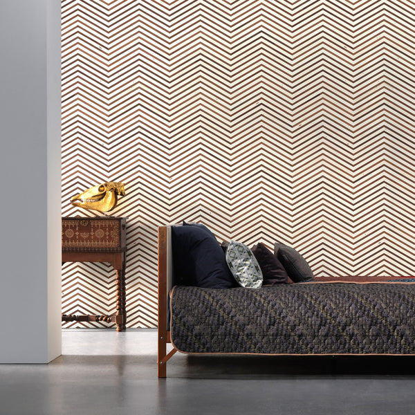 NLXL Timber Strips Wallpaper by Piet Hein Eek - TIM-04 Roomset