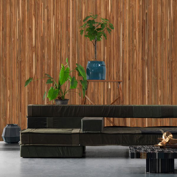 NLXL Timber Strips Wallpaper by Piet Hein Eek - TIM-05 Roomset