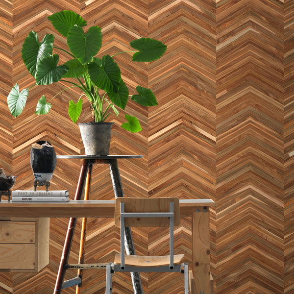 NLXL Timber Strips Wallpaper by Piet Hein Eek - TIM-06 Close Up