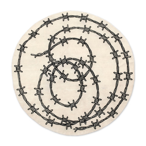 Barbed Wire Rug by Studio Job Front