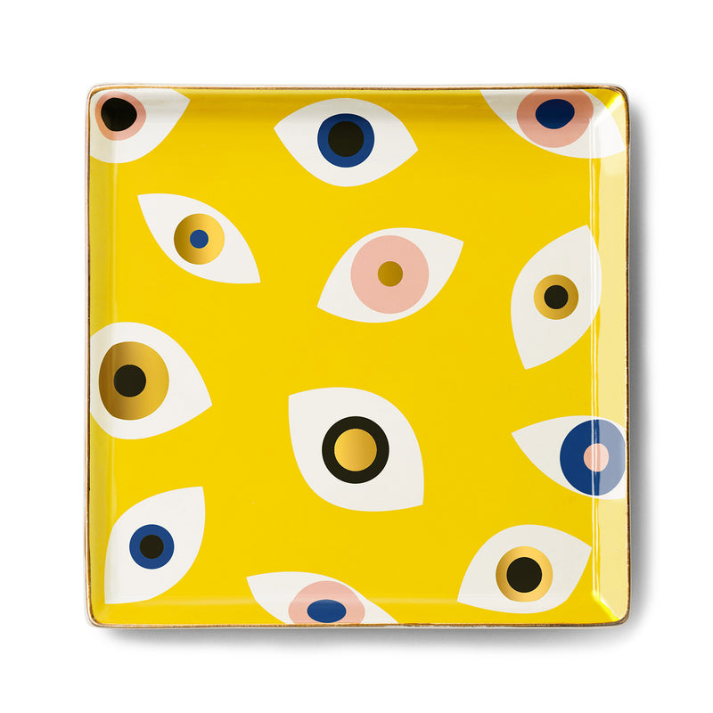 Nazar Ceramic Tray - Yellow