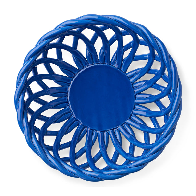 Octaevo Sicilia Ceramic Basket - Large Blue Top