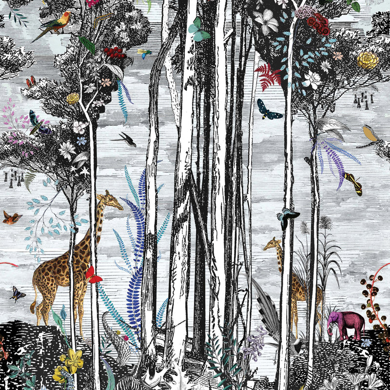 Osborne & Little 'Animal Glade' Wallpaper