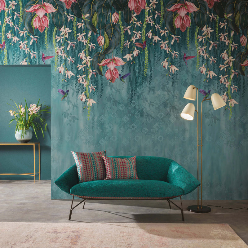Osborne & Little 'Trailing Orchid' Wallpaper Roomset