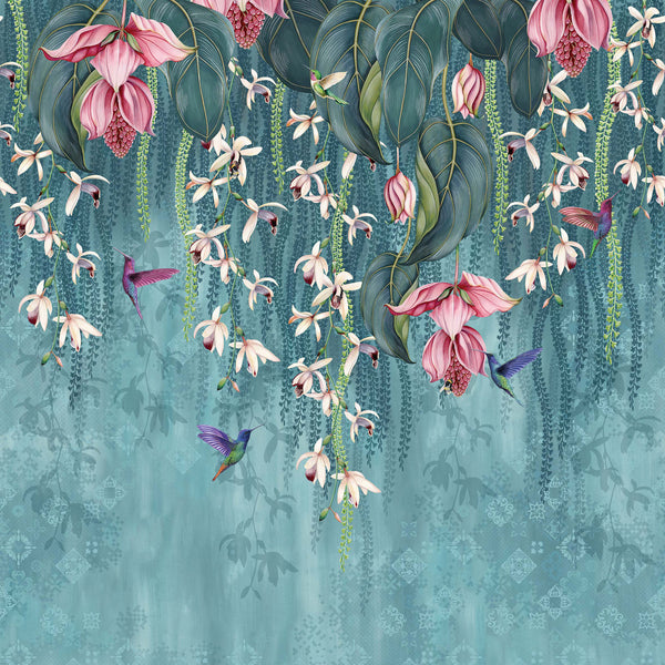 Osborne & Little 'Trailing Orchid' Wallpaper W7334-01