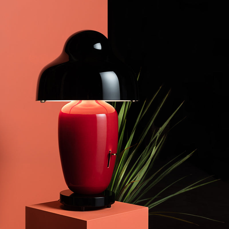 Parachilna 'Chinoz' Table Lamp - Red by Jaime Hayon Roomset