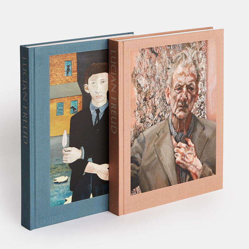 Phaidon Lucian Freud Book Inner Two Volumes Standing