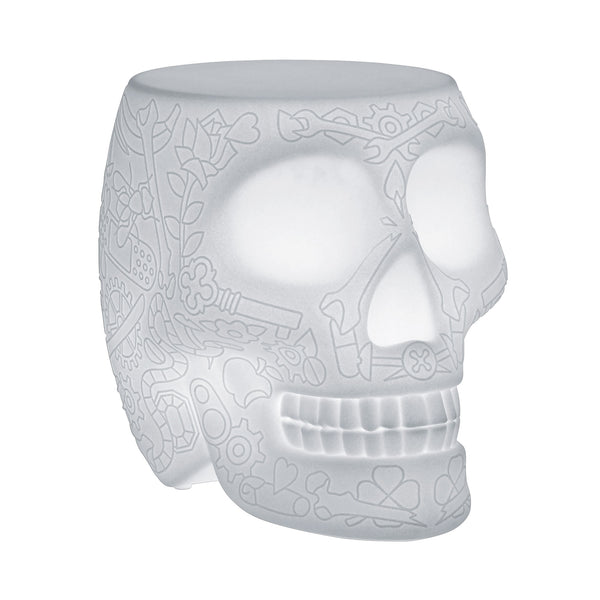 Qeeboo Mexico Skull LED Floor Lamp by Studio Job Angle