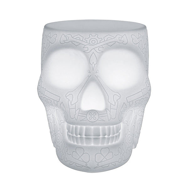 Qeeboo Mexico Skull LED Floor Lamp by Studio Job Front