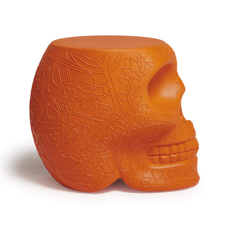 Qeeboo 'Mexico' Skull Stool/Side Table by Studio Job Terracotta Side