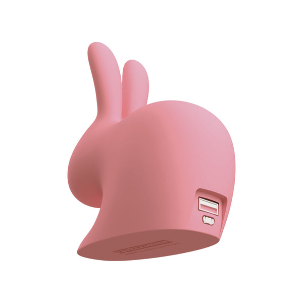 Qeeboo Mini Rabbit Power Bank by Stefano Giovannoni Pink Back