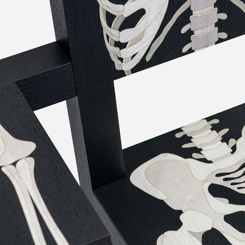 Scapin Collections Skeleton Armchair by Marcantonio Seat Detail