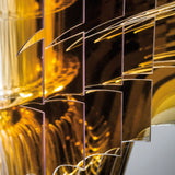 Slamp 'Aria Gold' Suspension Lamp by Zaha Hadid - Medium Shade Detail