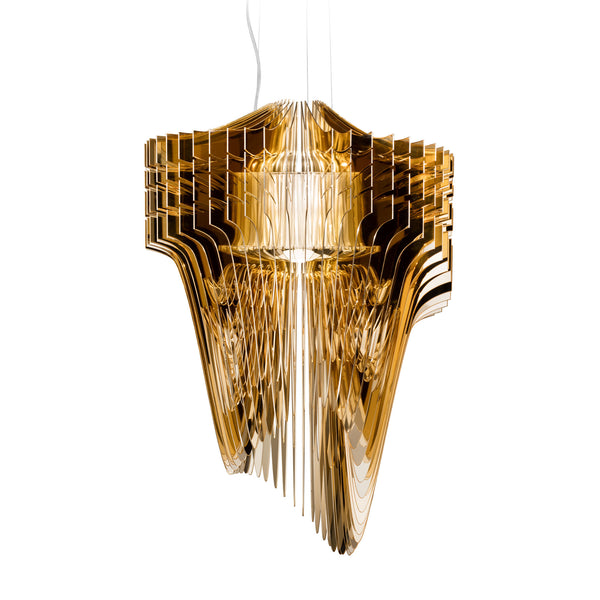 Slamp 'Aria Gold' Suspension Lamp by Zaha Hadid - Small