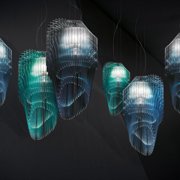 Slamp 'Avia Edition' Suspension Lamp - Turquoise by Zaha Hadid Group